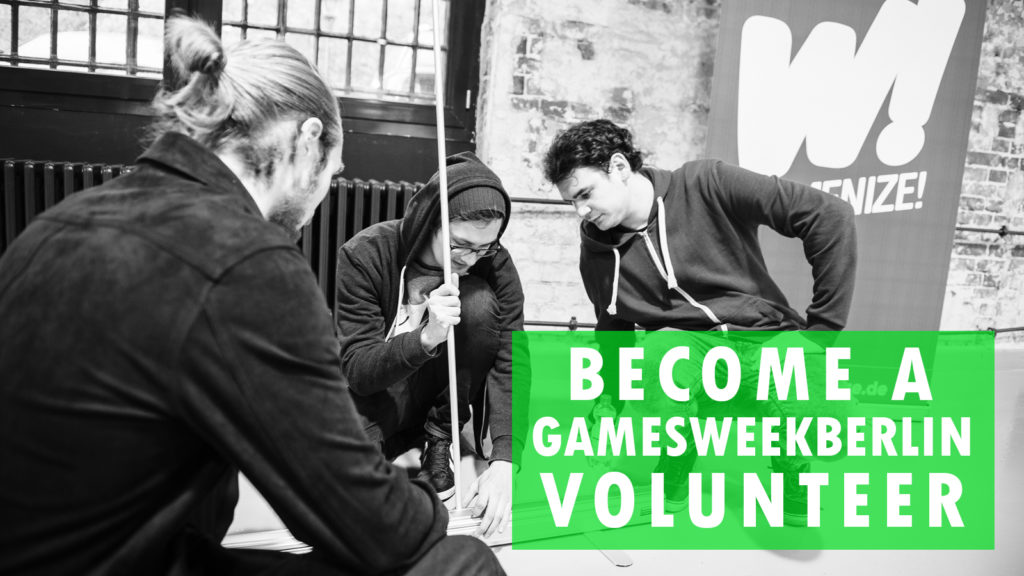 CALL FOR #GAMESWEEKBERLIN VOLUNTEERS